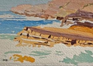 """April 26: High Surf"" original fine art by Dana Richards"