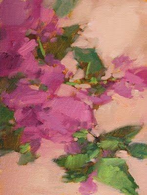 """Vine of Bougainvillea"" original fine art by Laurel Daniel"