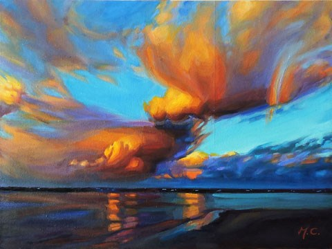 """Colourful Clouds"" original fine art by Michelle chen"