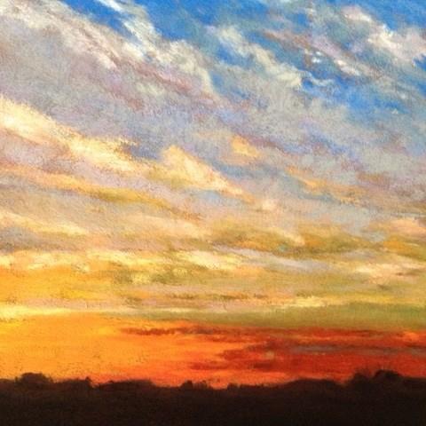 """""""Evening Sky"""" original fine art by Cindy Gillett"""