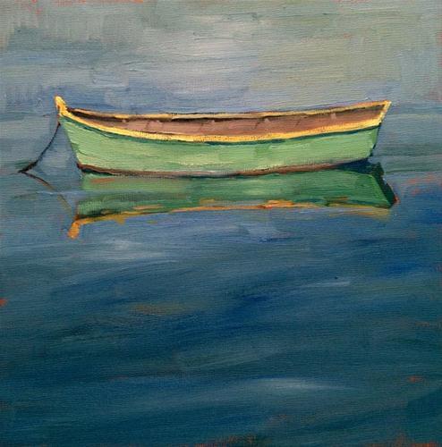 """Row your boat"" original fine art by Deborah Newman"