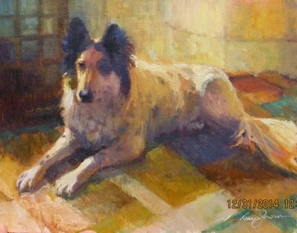 """Cody"" original fine art by V.... Vaughan"