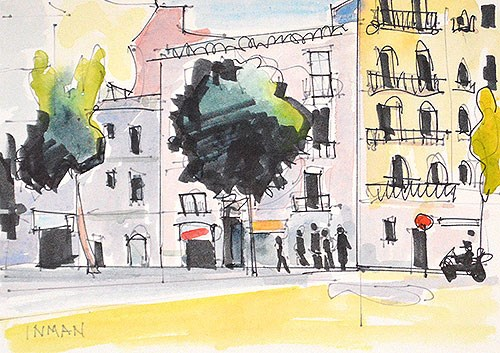 """Eixample"" original fine art by Kevin Inman"