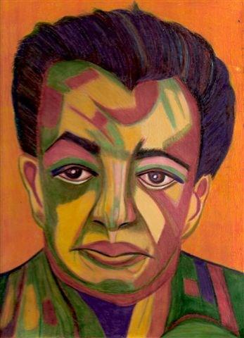 """Primitive Diego (A Portrait of Diego Rivera)"" original fine art by Terri Brown-Davidson"