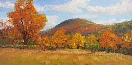 """Mountain Stroll in Autumn"" original fine art by Jamie Williams Grossman"