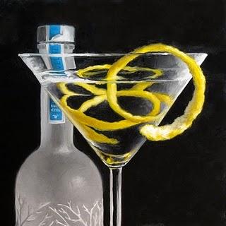 """Lemon Twist Martini"" original fine art by Michael Naples"