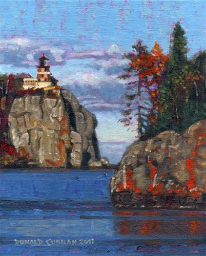 """Split Rock Light"" original fine art by Donald Curran"