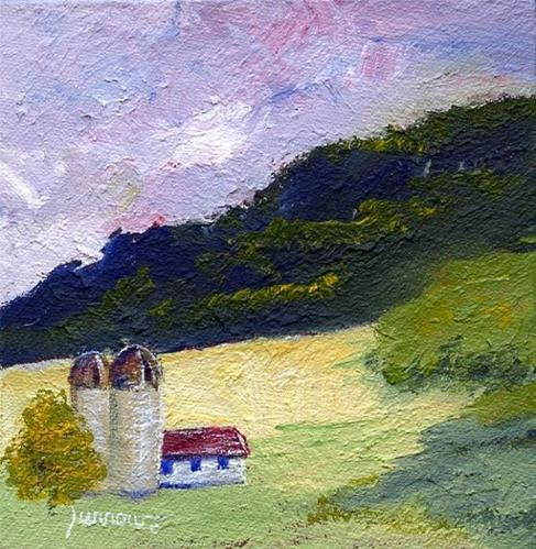 """""""Traveling on Route 785 to Beliveau Estate"""" original fine art by Sue Furrow"""