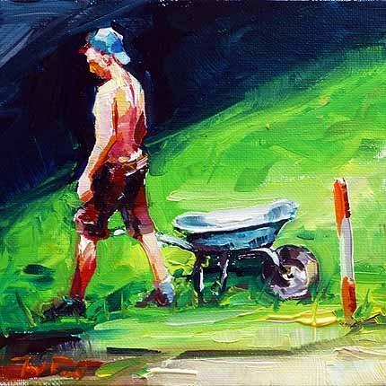 """""""Arbeiter"""" original fine art by Jurij Frey"""
