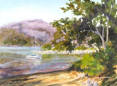 """Waiting to Sail the Hudson"" original fine art by Jamie Williams Grossman"