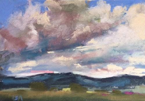 """Blue Skies Are Not Always Best"" original fine art by Karen Margulis"