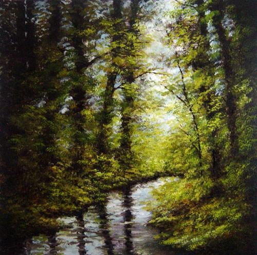 """Reflections"" original fine art by Bob Kimball"