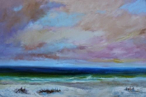 """""""Ponte Vedra Beach, Beach and Ocean Paintings by Arizona Artist Amy Whitehouse"""" original fine art by Amy Whitehouse"""