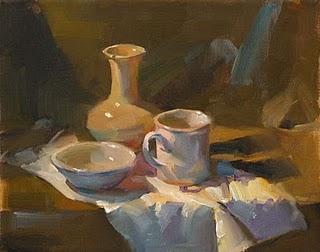 """White Study"" original fine art by Qiang Huang"