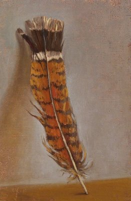 """Ruffed Grouse Feather"" original fine art by Abbey Ryan"