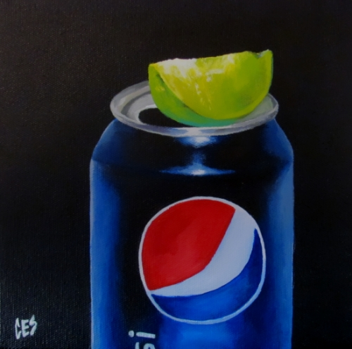 """""""Pepsi Lime"""" original fine art by ~ces~ Christine E. S. Code"""