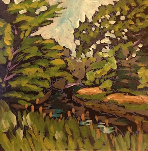 """Minnehaha Creek, July 2014"" original fine art by Kat Corrigan"
