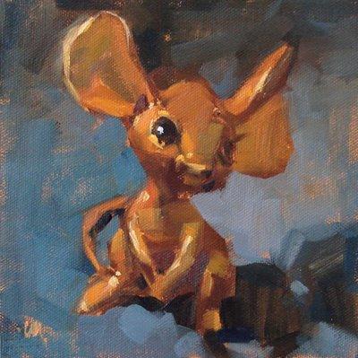"""""""Big Ears"""" original fine art by Carol Marine"""