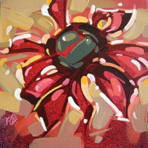 """""""Flower Abstraction 214"""" original fine art by Roger Akesson"""