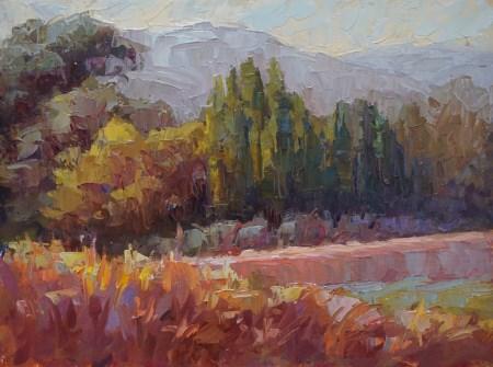 """Vendola Drive"" original fine art by Carol Myer"