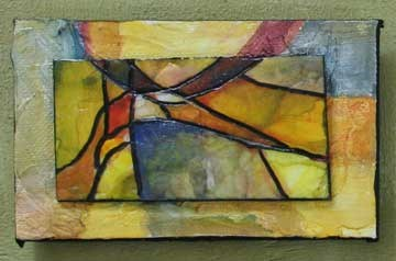 """Warm Toned Abstract"" original fine art by Kara Butler English"