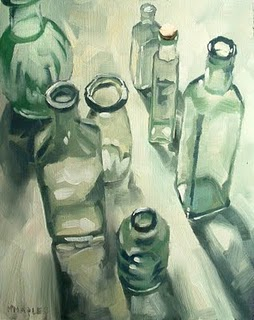 """Bottles (sketch)"" original fine art by Michael Naples"