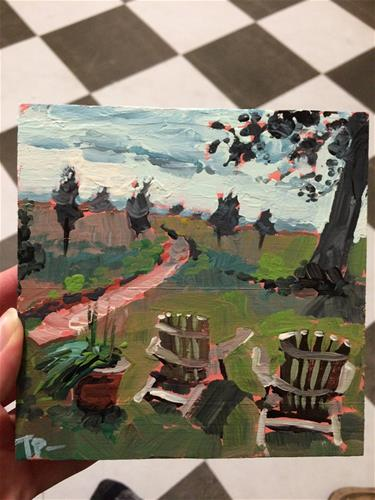 """Mini Commission"" original fine art by Teddi Parker"