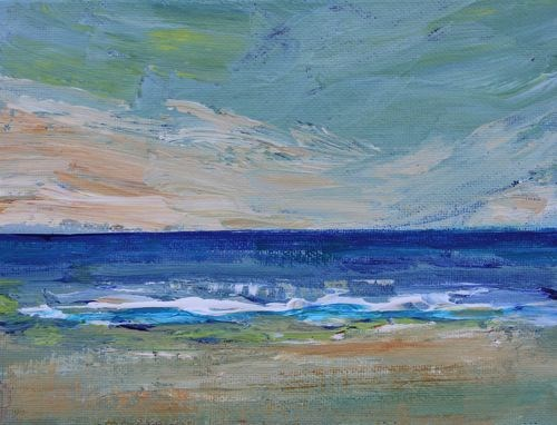 """Atlantic Ocean, Abstract Seascape Paintings by Arizona Artist Amy Whitehouse"" original fine art by Amy Whitehouse"