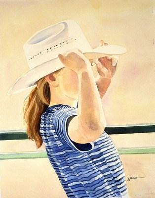 """""""Rodeo Gal"""" original fine art by Jini James"""