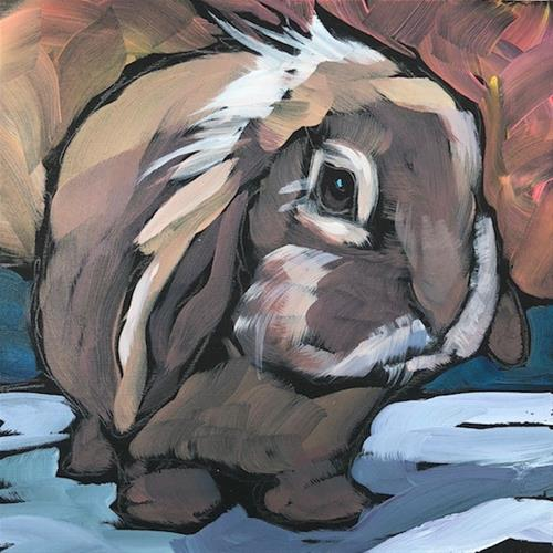 """Lop Ear Sweetheart Bunny"" original fine art by Kat Corrigan"