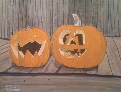 """""""Halloween"""" original fine art by Kathleen Carrier"""