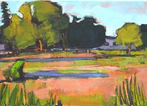 """Boise Farm"" original fine art by Kevin Inman"