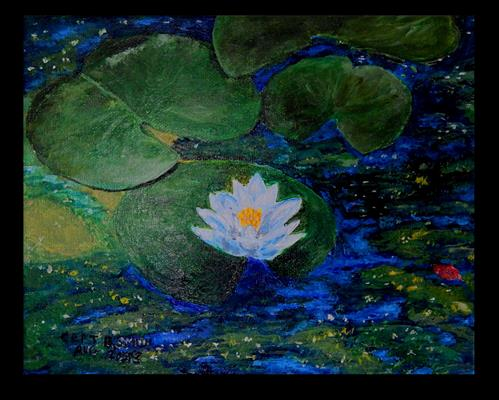 """""""Indigo Calm"""" original fine art by Captain B Smith"""