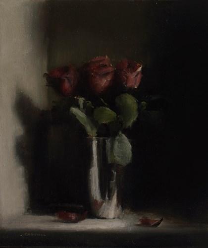 """Red Roses"" original fine art by Neil Carroll"