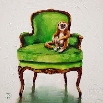 """the thinker"" original fine art by Kimberly Applegate"