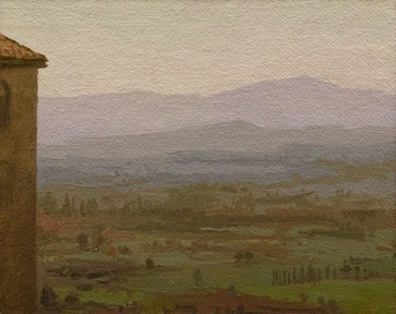 """""""Afternoon View from Assisi (Italy painting #7)"""" original fine art by Abbey Ryan"""