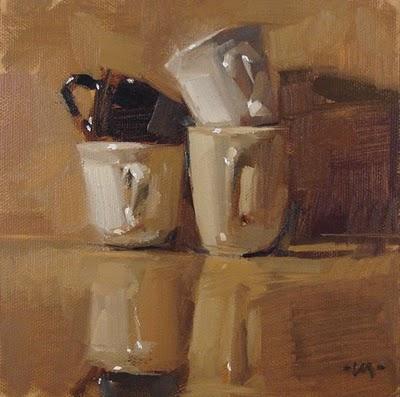 """Mixed Cups"" original fine art by Carol Marine"