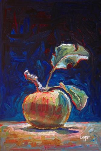 """Apple for 2013"" original fine art by Raymond Logan"