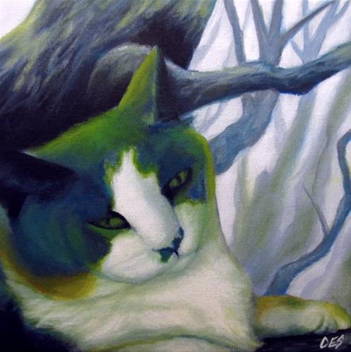 """Commissioned Pet Portrait"" original fine art by ~ces~ Christine E. S. Code"