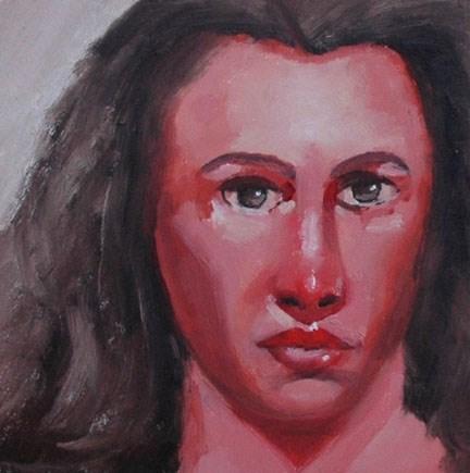"""""""FACE No. 113"""" original fine art by Linda Popple"""