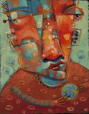 """Wild Blue"" original fine art by Brenda York"