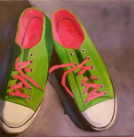 """Spring Green"" original fine art by Claire Henning"
