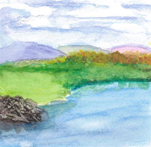 """""""Lake"""" original fine art by Donna Vieth"""
