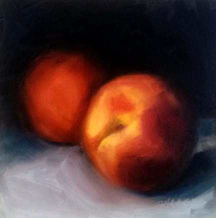 """""""West Slope Peaches"""" original fine art by Cindy Haase"""