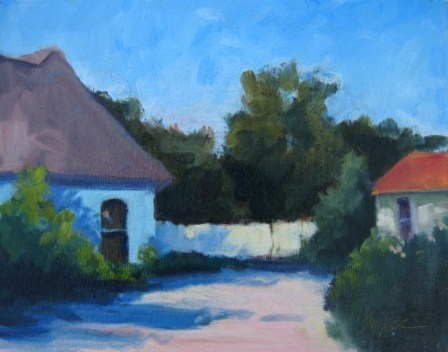 """""""French Architecture"""" original fine art by Connie Snipes"""
