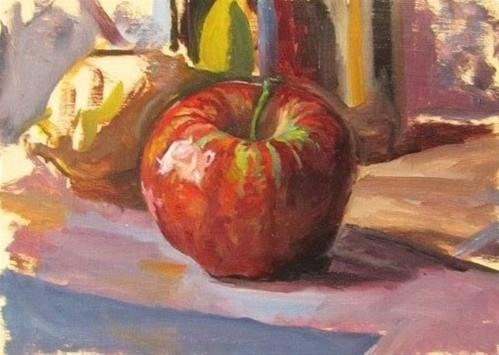 """27- Apple Study"" original fine art by Edward Watson"