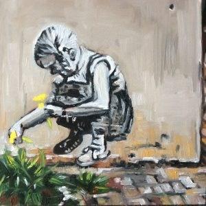"""""""Street Art"""" original fine art by Sonja Neumann"""