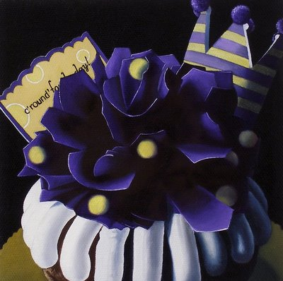 """Bundt Cake - Private Commission"" original fine art by Jelaine Faunce"