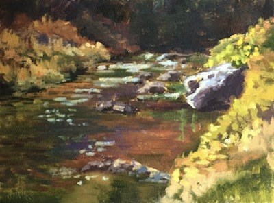 """""""In The Canyon"""" original fine art by Pam Holnback"""