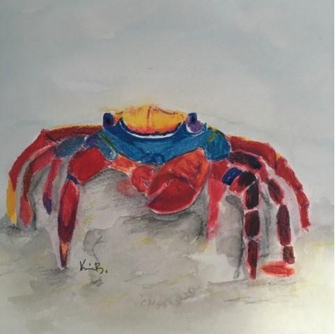 """Crabs #6"" original fine art by Kimberly Balentine"